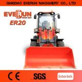 Le CE de lame de neige a articulé le chargeur compact de roue de 2.0 tonnes
