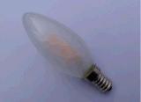 Der Schrauben-C35 Glasunterseite kerze-des Licht-3.5W E14, die Birne verdunkelt