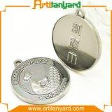 Medaglia d'argento del metallo di sport del ricordo con il nastro