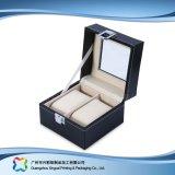 Caja de embalaje de madera/del papel de lujo de la visualización para el regalo de la joyería del reloj (xc-dB-012)
