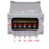 fonte de alimentação Rainproof do diodo emissor de luz do escudo de alumínio constante da tensão 24V-60W