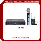 Microfono a doppio canale della radio di frequenza ultraelevata di alta qualità professionale