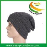 Qualitäts-fester grauer Winterknit-Stulpebeanie-Hut