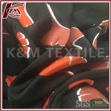最上質のよい縦の製造業者の花柄の絹のサテンファブリック