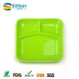 Tipo com LFGB, tipo dividido esteira da louça das placas dos miúdos da certificação 3 do FDA da refeição do bebê do silicone