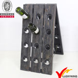 Venda Por Atacado Handmade Rústico Antiguidade Antique Wooden Wine Rack com 24 Garrafas