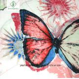 Signora Scarf di modo con lo scialle stampato del raso del fiore di farfalla