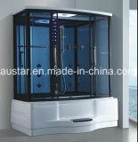 sauna de vapeur de rectangle de 1800mm avec le jacuzzi et la douche (AT-GT0215F)