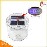 LED 힘 표시등을%s 가진 휴대용 재충전용 Foldable 태양 야영 빛 10 LED 팽창식 태양 손전등