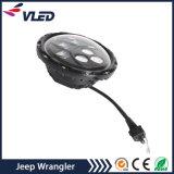 Acessórios de Jk do Wrangler farol redondo do diodo emissor de luz de 7 polegadas para veículos Offroad da motocicleta do jipe
