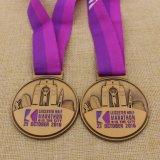 Medaille van de Looppas van de Pret van de Marathon van de Afwerker van het Metaal van de douane de half Volledige met Lint