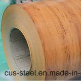 Bobinas del acero del color de la cubierta PPGI/PPGL/Wooden de Matt/modelo de madera PPGI