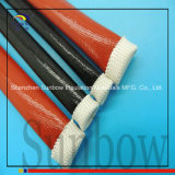 Silicone Fiberglass Braided Elastic Expandable Red Gas Sleeve