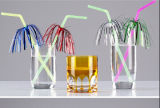 Flexibles Plastikstroh mit Palmen-Dekoration