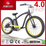 Diseño de moda 48V13ah todo el terreno 4.0 bici eléctrica del neumático 500W de la pulgada del crucero gordo ancho de la playa