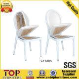 Chaise de banquet d'empilage en aluminium pour mariage