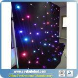 カラーLED星のカーテン、LEDの星の布、ナイトクラブのためのLEDの背景幕、結婚するコンサート