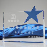 Trofeo asteroide del vidrio cristalino para los regalos