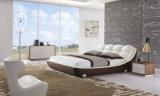Кровать неподдельной кожи новой шикарной конструкции самомоднейшая (HC170) для спальни