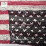 Signora viscosa Scarf di modo dello scialle stampata nuova retro bandiera americana 2017