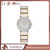 防水男女兼用の円形のスチール・ケースの背部腕時計