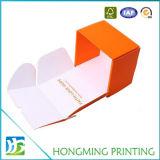 Cadre de empaquetage de couleur de trousseau de clés orange mignon de carton