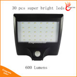 Lampes solaires 30 Applique murale à LED de sécurité Éclairage extérieur Veilleuse avec détecteur de mouvement Détecteur de lampe pour jardin Clôture Porte cour
