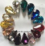 Peridot Ab Siam Ab naait op Bergkristallen met Klauw Chatons (sW-Daling 10*14)
