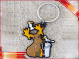 PVC de goma Keychain promocional de la insignia de Keychain