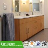 Cabina de cuarto de baño de madera de cerámica doble del rectángulo