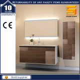 Mobilia fissata al muro personalizzata di vanità della stanza da bagno della melammina di legno