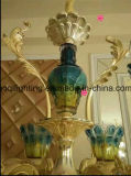 Blaue Glasgoldene Druckguss-Kristallleuchter-Lichter