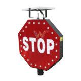 Poteau de signalisation neuf du panneau DEL de signe d'arrêt d'énergie solaire de modèle