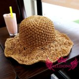 Fashion Hand Crochet Summer Spring Lady Girl Paper Bucket Hat