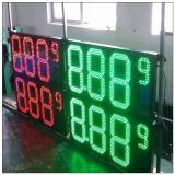 Signe de numéro utilisé par station-service de chiffre de DEL