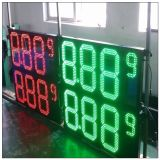 Напольный красный зеленый белый знак индикации цены на нефть цвета СИД для доски бензоколонки