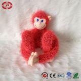 Jouet mignon se reposant mou de gosses d'arc-en-ciel de singe de peluche colorée