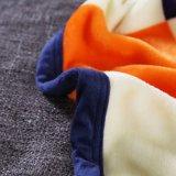 China-Fabrik Colourfule Checkentwurf Stärken-Flanell-Vlies-Zudecke für Hauptbett