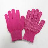 Перчатка En388 работы безопасности перчатки многоточий сигнала сжатия PVC Sanjian Nylon