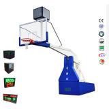Aro de baloncesto portable hidráulico electrónico del equipo de deportes para la competición