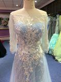 weg vom Schulter-Abend-Kleid für Wedding mit Schlüsselloch-Rückseite