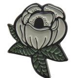 Pin suave de la solapa de la flor de Rose del esmalte del metal del precio de fábrica de la alta calidad (xd-tb-01)