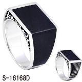 Monili d'argento 925 anelli d'argento degli uomini dello smalto degli anelli