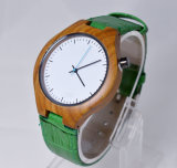 Зеленый кожаный вахта полосы вахты деревянный