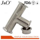 Tipo sanitario extremo recto de la abrazadera de Bpe del acero inoxidable que reduce los accesorios del tubo de la te