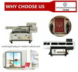 Impressora Flatbed UV de Digitas do Inkjet para as telhas do vidro da impressão de madeira