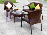 PEの藤Sofa/PEの藤の表および椅子の屋外のホテルの別荘のバルコニーの庭の組合せ