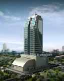 유리제 외벽을%s 가진 고층 강철 구조물 사무실 건물