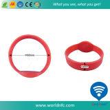 Kundenspezifischer SilikonWristband des Qr Code-Ntag213 RFID