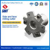 Lado da máquina-ferramenta e cortador de trituração Indexable PT02.12A22.063.06 da face. H5/SMP01-063X5-A22-Sn12-06 para a inserção Mpht